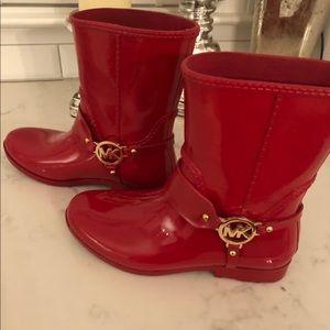 MK Michael Kors Fulton harness Rain boots - size8